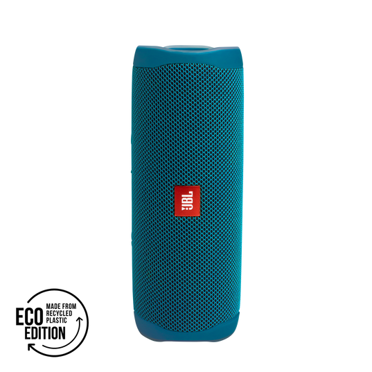 JBL Flip 5 - ECO Blue Waterproof Portable Bluetooth Speaker Made From 100% Recycled Plastic